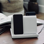 Spansive Source // Multi Device Wireless Charger (White)