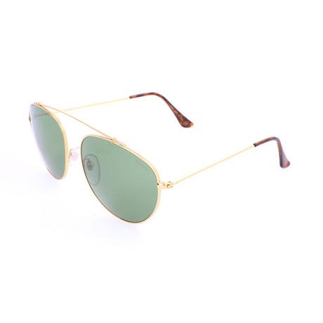 Men's Leon Sunglasses // Gold + Green