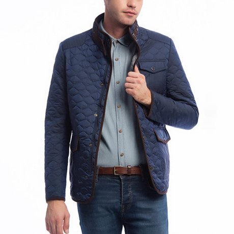 Quilted Jacket // Indigo (S)