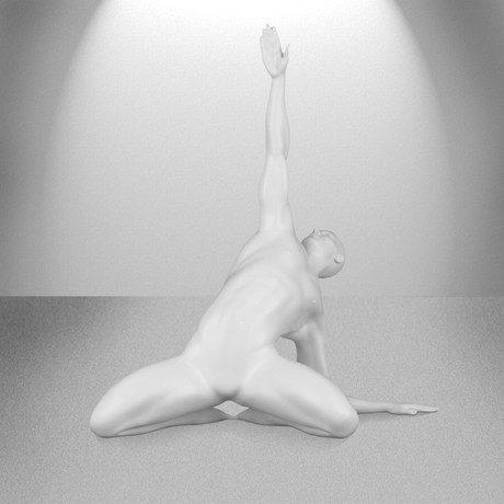 Invocation Man Sculpture // Matte White