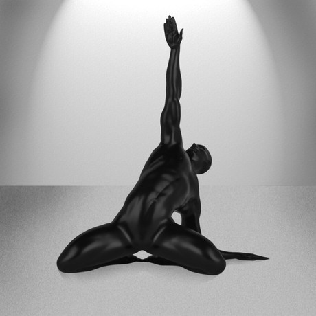 Invocation Man Sculpture (Matte Black)