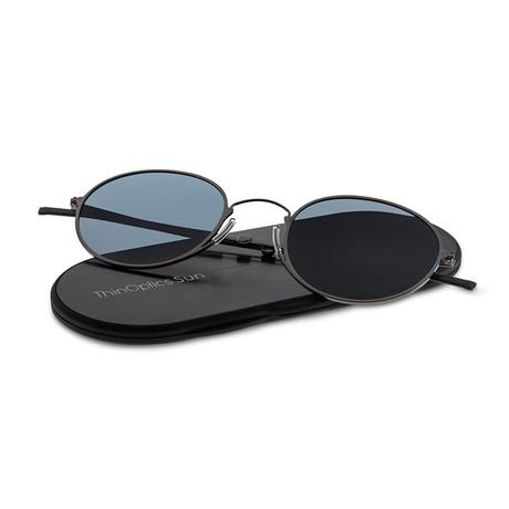 ThinOptics Suns // Round + Case // Gun Metal Frame + Gray Flash Mirror Lens