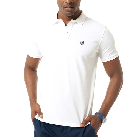 Viviano Short-Sleeve Polo // White (Small)
