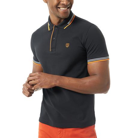 Vitale Short-Sleeve Polo // Black (Small)