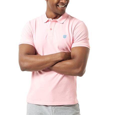 Viviano Short-Sleeve Polo // Pink (Small)
