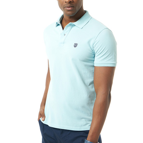 Vittore Short-Sleeve Polo // Baby Blue (XS)