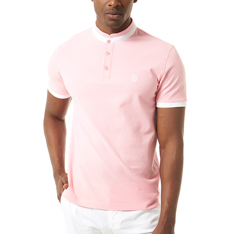 Vittore Short-Sleeve Polo // Pink (XS)
