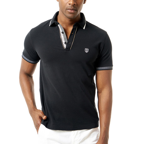 Virino Short-Sleeve Polo // Black (Small)