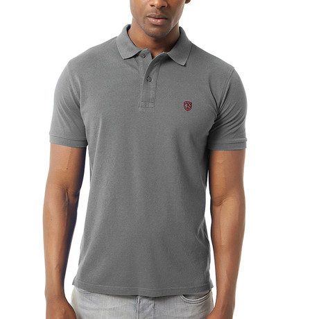 Viviano Short-Sleeve Polo // Anthracite (XS)