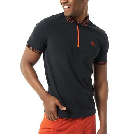 Verano Short-Sleeve Polo // Black (Small)