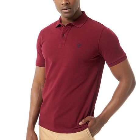 Viviano Short-Sleeve Polo // Bordeaux (Small)