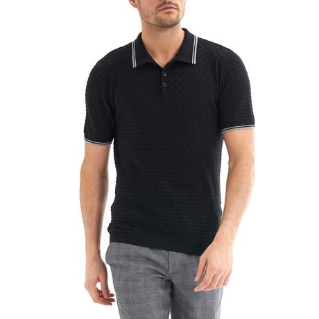 Zenone Short-Sleeve Polo // Black (Small)