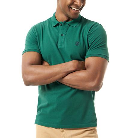 Viviano Short-Sleeve Polo // Dark Green (Small)