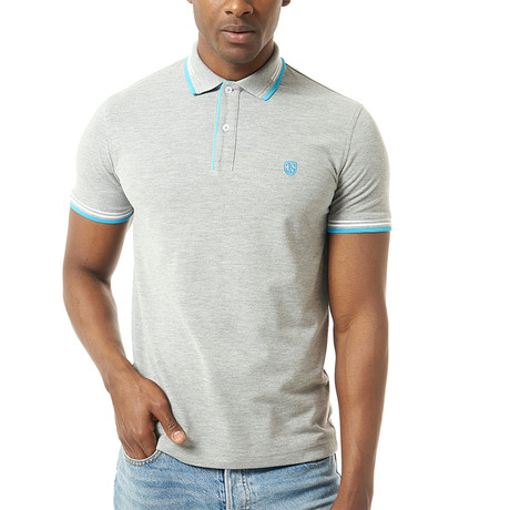 Vitale Short-Sleeve Polo // Gray Melange (3XL)