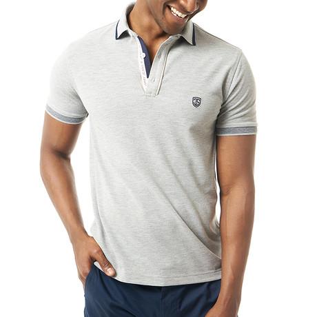 Virino Short-Sleeve Polo // Gray Melange (Small)