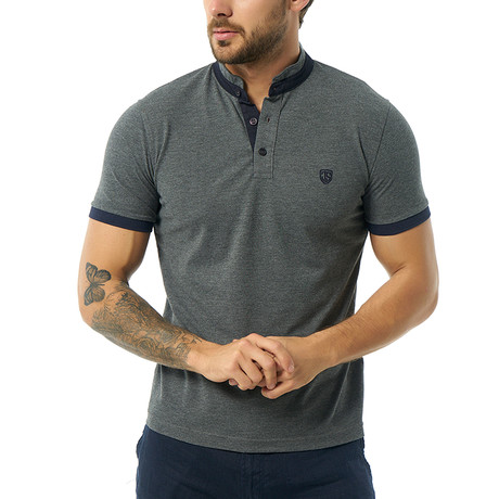 Vittore Short-Sleeve Polo // Anthracite (XS)