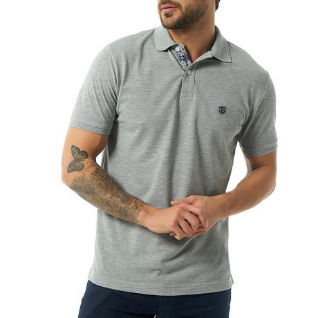 Viviano Short-Sleeve Polo // Gray (S)