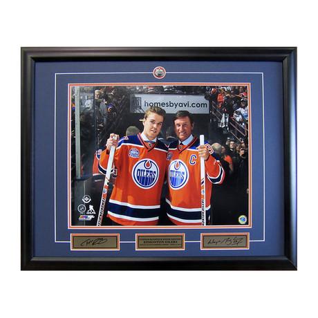 Edmonton Oilers // Framed Photo Display // Wayne Gretzky + Connor McDavid
