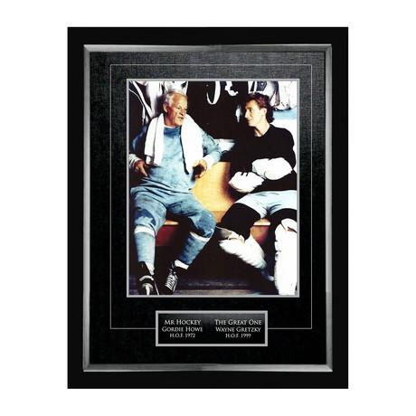 Wayne Gretzky + Gordie Howe // Collector Photo