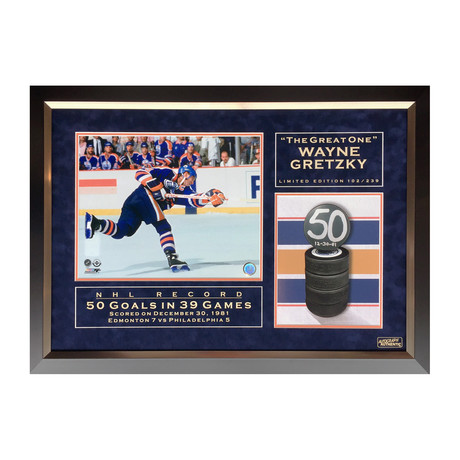 Wayne Gretzky // 50 Goals in 39 Games // Limited Edition