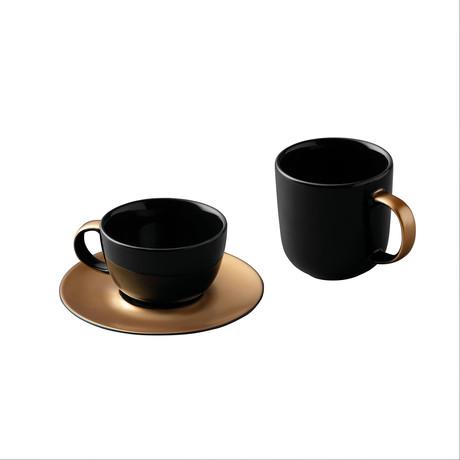 Gem Coffee + Tea Set // Black + Gold