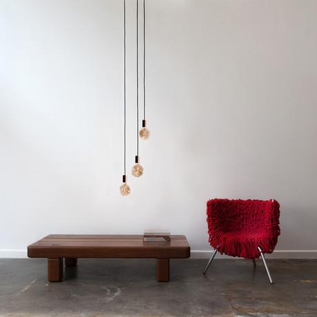 Voronoi I Walnut Ceiling Light // Walnut