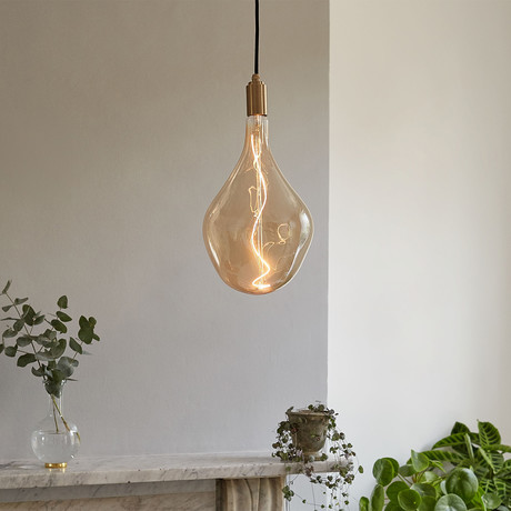 Voronoi III Pendant // Brass