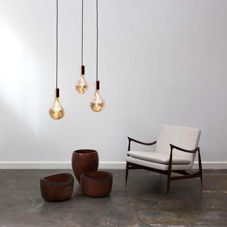 Voronoi II Walnut Ceiling Light // Walnut