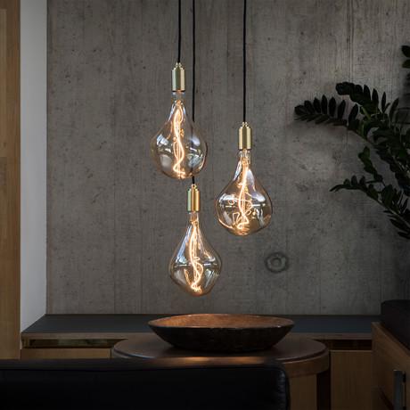 Voronoi II Ceiling Light // Brass
