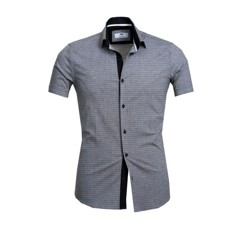 Short Sleeve Button Up // Gray (S)