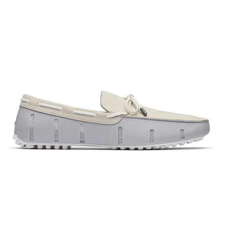 Braided Lace Lux Loafer Nubuck // Alloy + Pristine (US: 7)