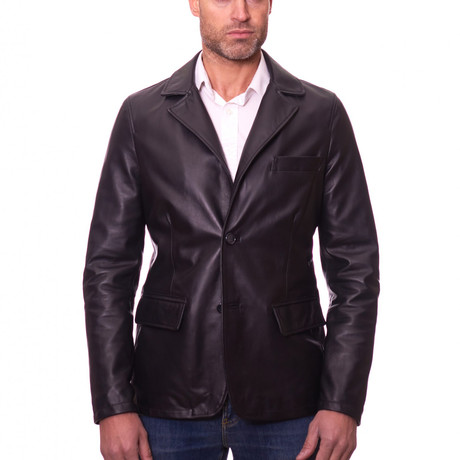 Orlando Blazer Leather Jacket // Black (Euro: 44)
