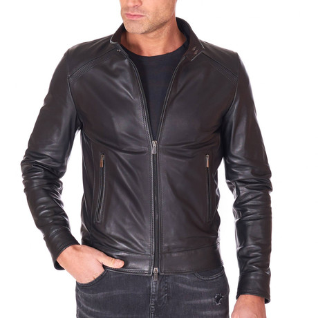 Emy Biker Leather Jacket // Black (Euro: 44)