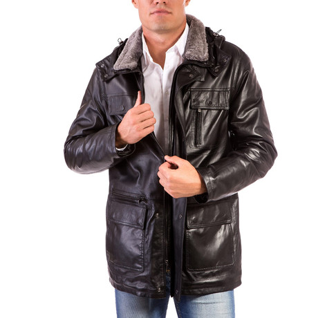 Vittorio Leather Coat // Black (Euro: 44)