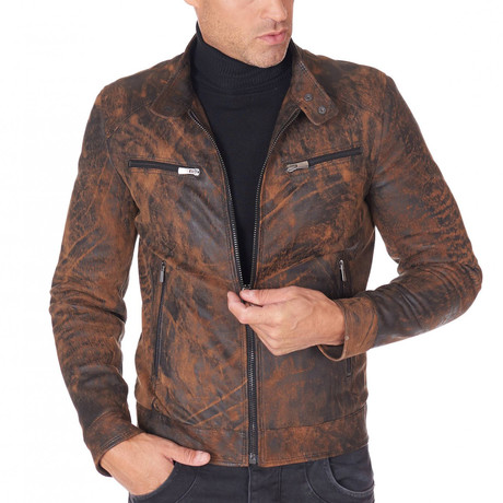 Hamilton Biker Safari Leather Jacket // Safari (Euro: 44)