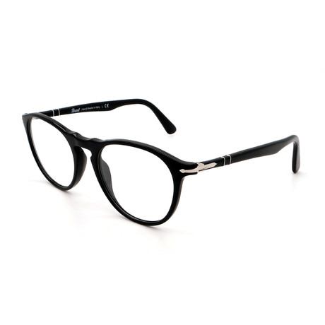 Persol // Men's PO3205V-95 Round Optical Frames II // Shiny Black