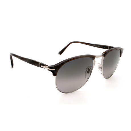 Persol // Men's PO8649S-1045M3 Polarized Sunglasses // Dark Horn + Green