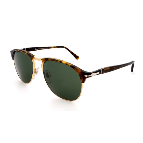 Persol // Men's PO8649S-24-31 Sunglasses // Havana + Green