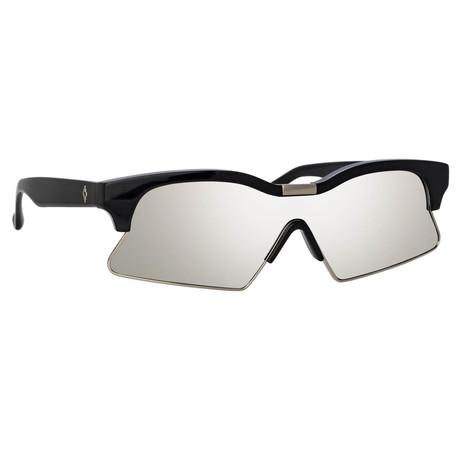 Marcelo Burlon // Unisex 3C1 Sunglasses // Black + Silver