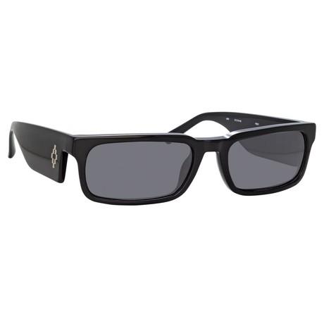 Marcelo Burlon // Unisex 5C1 Sunglasses // Black + Silver + Gray
