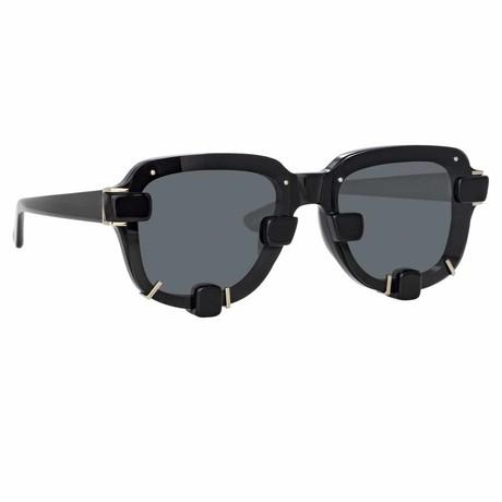 Y/Project // Unisex 5C1 Sunglasses // Black + Silver + Gray