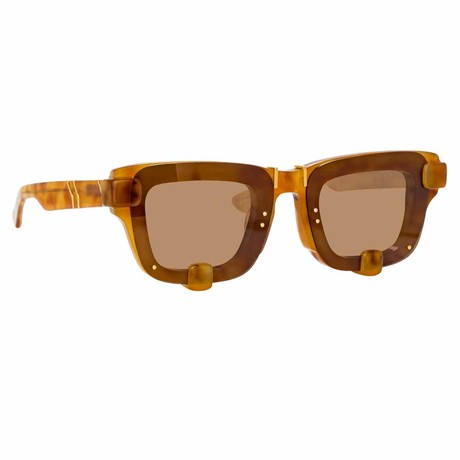 Y/Project // Unisex 4C2 Sunglasses // Light Tortoiseshell + Light Gold + Brown