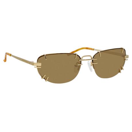 Y/Project // Unisex 2C3 Sunglasses // Tortoiseshell + Light Gold + Solid Brown