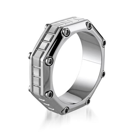 Octagon Design Ring // Cobalt + Chromo (7)