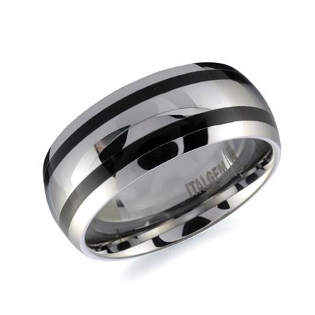 Tungsten Carbide Resin Band // Silver (7)