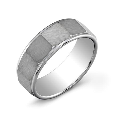 Tungsten Carbide Octagon Band // Silver (7)
