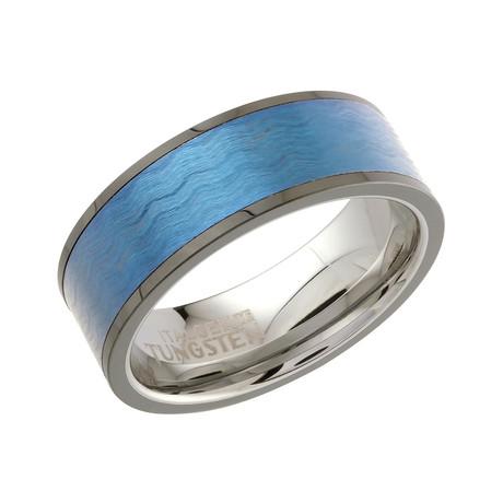 Brushed + Polished Band // Blue (7)