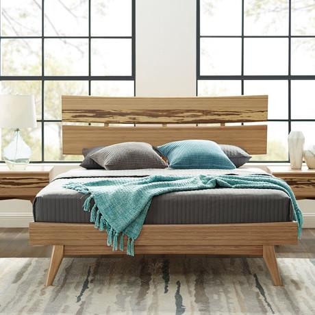 Azara Platform Bed // Caramelized (Queen)