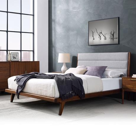 Mercury Upholstered Platform Bed (Queen)