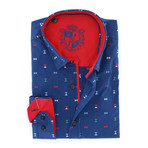 Bowtie Button-Up Shirt // Navy (3XL)